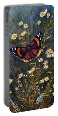 Red Admiral And Wild Aster Portable Battery Charger