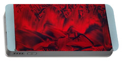 Red And Black Encaustic Abstract Portable Battery Charger