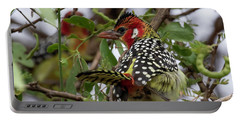 Red-and-yellow Barbet Portable Battery Charger
