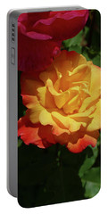 Red And Yellow Rio Samba Roses Portable Battery Charger