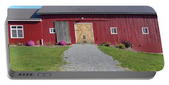 Portable Battery Charger featuring the photograph Red Barn by Rosanne Licciardi