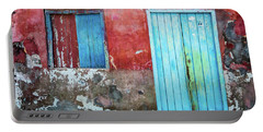 Red, Blue And Grey Wall, Door And Window Portable Battery Charger