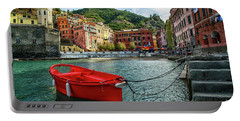 Red Boat Vernazza Cinque Terre  Portable Battery Charger