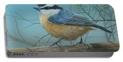 Red Brested Nuthatch Portable Battery Charger