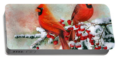 Red Cardinals Portable Battery Charger