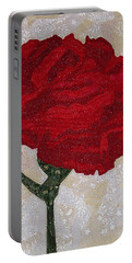 Red Carnation Portable Battery Charger