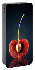 Red Cherry Still Life Portable Battery Charger