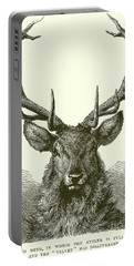 Red Deer Head Portable Battery Charger