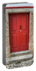 Red Door Nine Of Obidos Portable Battery Charger