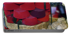 Red Fez Tarbouche And White Wicker Tagine Cookers Portable Battery Charger