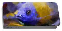 Red Fin Borleyi Cichlid Artwork Portable Battery Charger