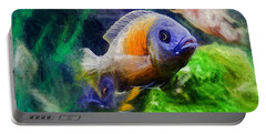 Red Fin Borleyi Cichlid Portable Battery Charger