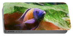 Red Fin Borleyi Cichlid Rising Portable Battery Charger