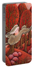 Red Forest Run Portable Battery Charger