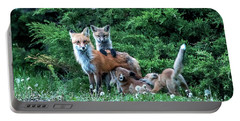 Red Fox Family Portable Battery Charger