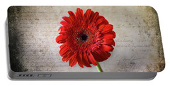Portable Battery Charger featuring the photograph Red Gerbera by Milena Ilieva