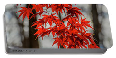 Red Leaves Portable Battery Charger