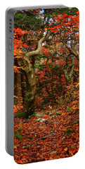 Portable Battery Charger featuring the photograph Red Oaks And At Blaze Vertical by Raymond Salani III