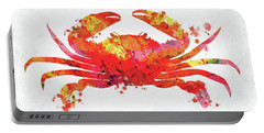 Red Orange Crab Watercolor Portable Battery Charger