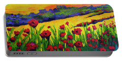 Red Poppies In Spring Portable Battery Charger