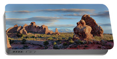 Red Rock Formations Arches National Park  Portable Battery Charger