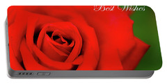Red Rose Best Wishes Portable Battery Charger