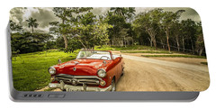 Red Vintage Car Portable Battery Charger