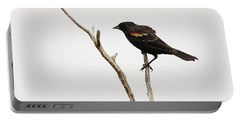 Red Winged Blackbird Portable Battery Charger