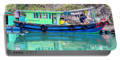 Reflections In Halong Bay, Vietnam Portable Battery Charger