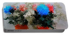 Reflection Of Flowers In The Mirror In Van Gogh Style Portable Battery Charger
