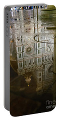 Reflections El Duomo The Florence Italy Cathedral Portable Battery Charger
