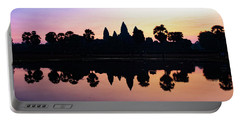 Reflections Of Angkor Wat - Siem Reap, Cambodia Portable Battery Charger