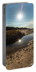 Reflections Of Autumn At The Beach Portable Battery Charger