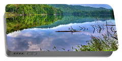 Portable Battery Charger featuring the photograph Reflections On Sis Lake by David Patterson