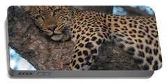 Relaxed Leopard Portable Battery Charger