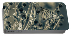 Resting Butterfly Bw Portable Battery Charger