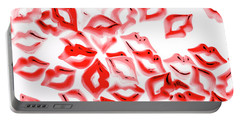 Retro Red Lips Portable Battery Charger