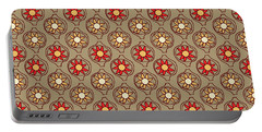 Retro Sunshine Pattern Portable Battery Charger