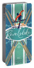 Portable Battery Charger featuring the painting Revelstoke Ski Poster by Sassan Filsoof