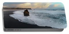 Reynisfjara Beach At Sunset Portable Battery Charger