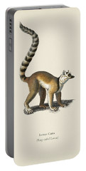 Ring-tailed Lemur  Lemur Catta  Illustrated By Charles Dessalines D' Orbigny  1806-1876  Portable Battery Charger