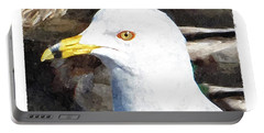 Ringbilled Gull Portrait Portable Battery Charger