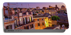 Portable Battery Charger featuring the photograph Rione Pigna's Rooftops by Fabrizio Troiani