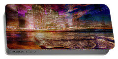 Rising Tide On The Hudson Montage Portable Battery Charger