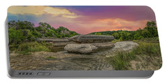 River Erosion At Sunset Portable Battery Charger