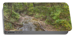 River Flowing Through Pine Quarry Park Portable Battery Charger