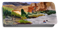 River Rafting In Montana Portable Battery Charger
