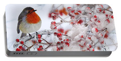 Robin And Berries Portable Battery Charger