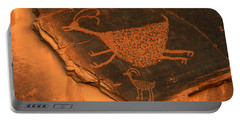 Rock Art At Eye Of The Sun Arch Portable Battery Charger