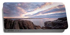 Rocky Coast At Daybreak . Portable Battery Charger